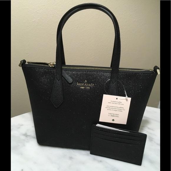 kate spade Handbags - NWT KATE SPADE JOELEY BLACK SATCHEL & CARD HOLDER